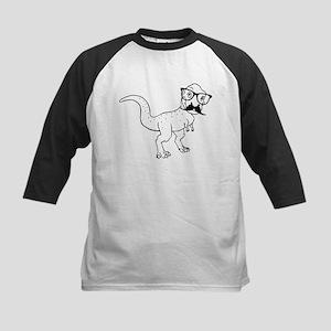 Hipster T-rex Baseball Jersey