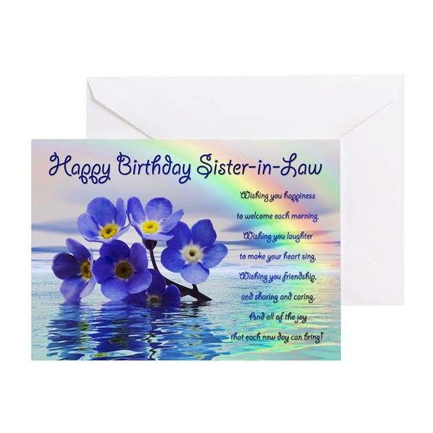 Birthday card for sister in law with forget me not by supercards bookmarktalkfo Image collections