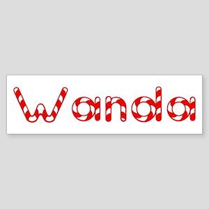 Wanda - Candy Cane Bumper Sticker
