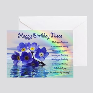 Niece birthday greeting cards cafepress birthday card for niece with forget me nots greeti m4hsunfo