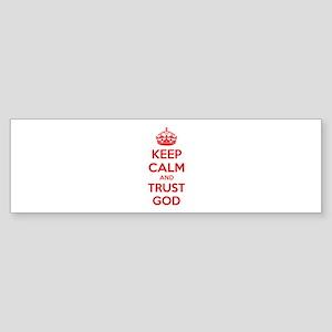 Keep calm and trust god Sticker (Bumper)