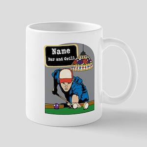 Personalized Mens Billiards Mug