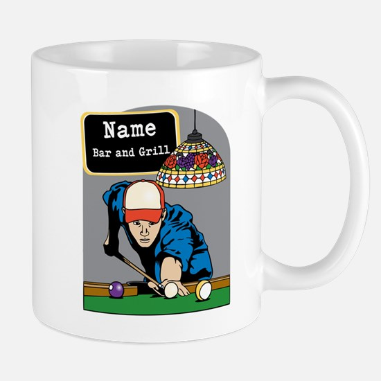 Personalized Mens Billiards Mug