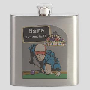 Personalized Mens Billiards Flask