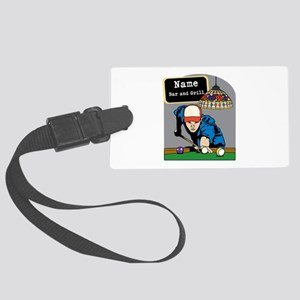 Personalized Mens Billiards Large Luggage Tag