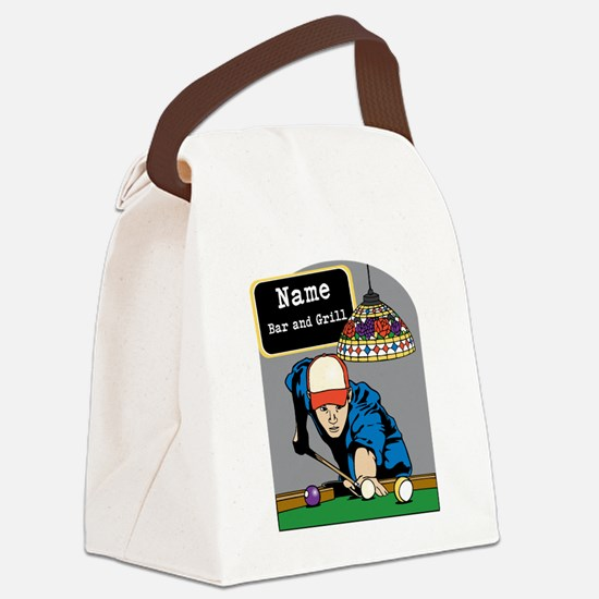Personalized Mens Billiards Canvas Lunch Bag