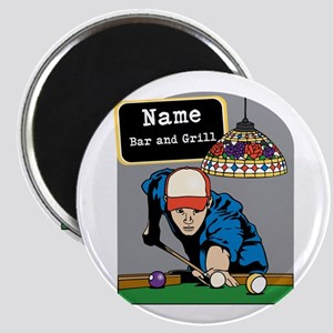 Personalized Mens Billiards Magnet