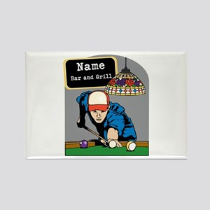 Personalized Mens Billiards Rectangle Magnet