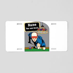 Personalized Mens Billiards Aluminum License Plate