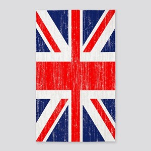 Distressed Union Jack 3 by 5 rug 3'x5' Area Rug
