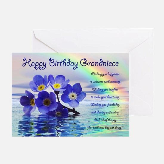 Birthday card for Grand Niece with forget me nots