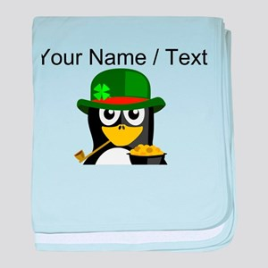 Custom Irish Penguin baby blanket