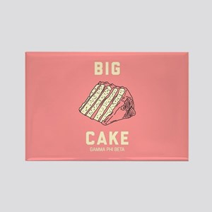 Gamma Phi Beta Big Cake Rectangle Magnet