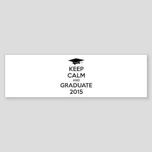 Keep calm and graduate 2015 Sticker (Bumper)