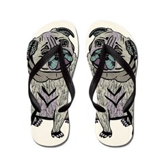 Ares The Pug Flip Flops