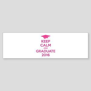 Keep calm and graduate 2016 Sticker (Bumper)