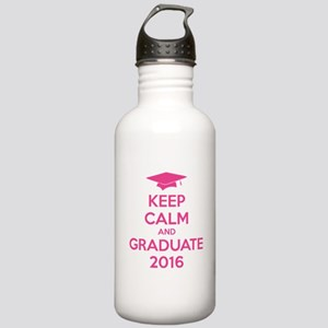 Keep calm and graduate 2016 Stainless Water Bottle