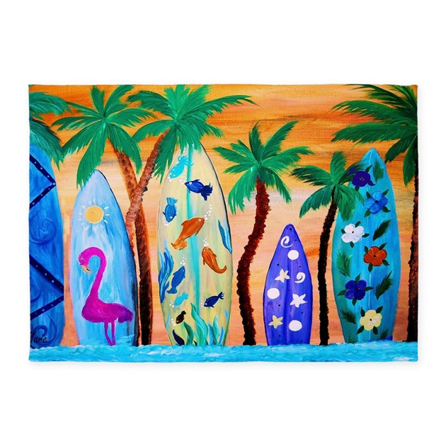 Surfboard Area Rug: Surfboards Area Rug 5'x7'Area Rug By Bythebeach