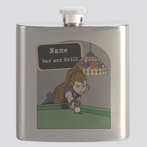Personalized Womens Billiards Flask