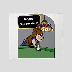 Personalized Womens Billiards Throw Blanket