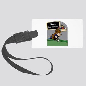 Personalized Womens Billiards Large Luggage Tag