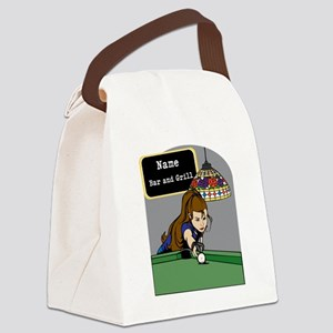 Personalized Womens Billiards Canvas Lunch Bag