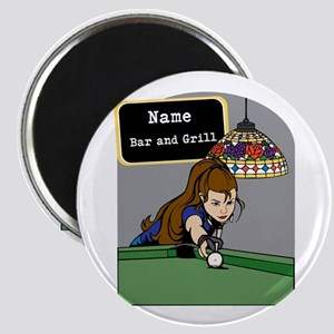 Personalized Womens Billiards Magnet
