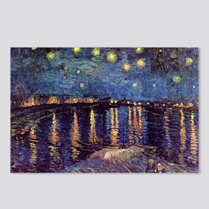 Starry Night Over The Rho Postcards (Package of 8)