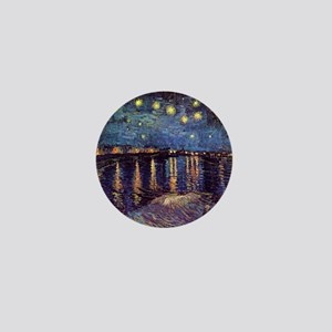 Starry Night Over The Rhone by Vincent Mini Button