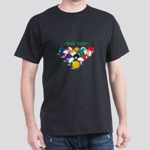 Personalized Billiard Balls Dark T-Shirt