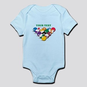 Personalized Billiard Balls Infant Bodysuit