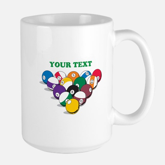 Personalized Billiard Balls Large Mug