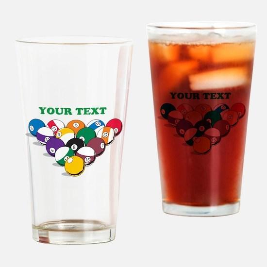 Personalized Billiard Balls Drinking Glass