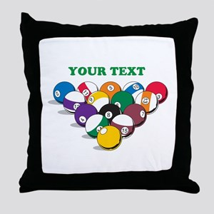 Personalized Billiard Balls Throw Pillow