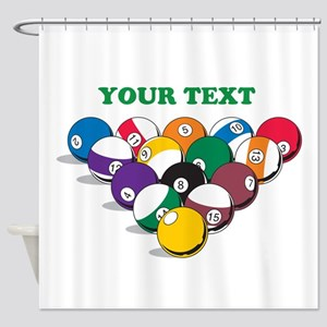Personalized Billiard Balls Shower Curtain