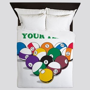 Personalized Billiard Balls Queen Duvet
