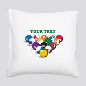 Personalized Billiard Balls Square Canvas Pillow
