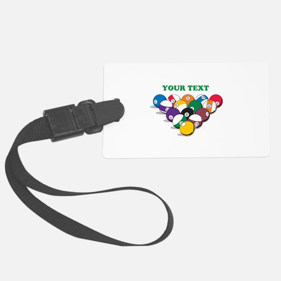 Personalized Billiard Balls Large Luggage Tag