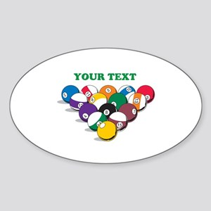 Personalized Billiard Balls Sticker (Oval)