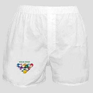 Personalized Billiard Balls Boxer Shorts