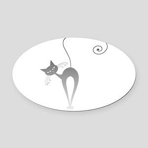 Stella Cat 9 Oval Car Magnet