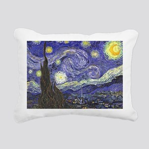 Starry Night by Vincent Rectangular Canvas Pillow