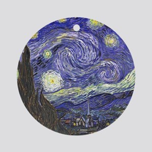 Starry Night by Vincent van Gogh Round Ornament