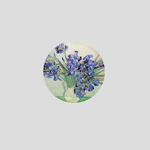Still Life: Vase with Irises by Vincen Mini Button