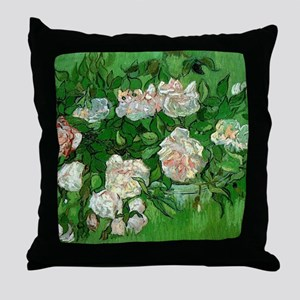 Pink Roses by Vincent van Gogh Throw Pillow