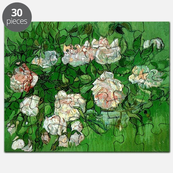 Pink Roses by Vincent van Gogh Puzzle