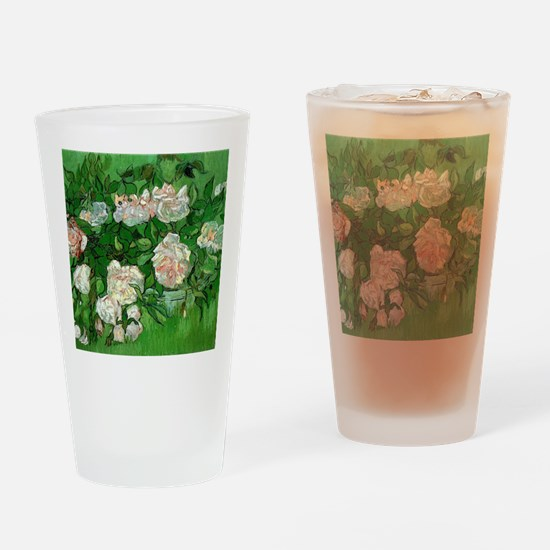 Pink Roses by Vincent van Gogh Drinking Glass