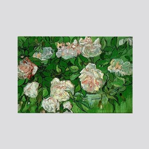 Pink Roses by Vincent van Gogh Rectangle Magnet