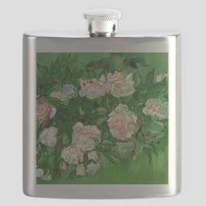 Pink Roses by Vincent van Gogh Flask