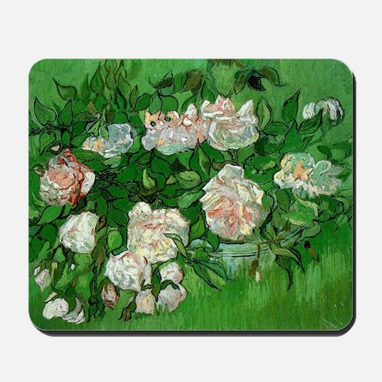Pink Roses by Vincent van Gogh Mousepad